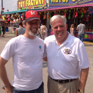 Meeting with Larry Hogan at the 2014 HoCoFair