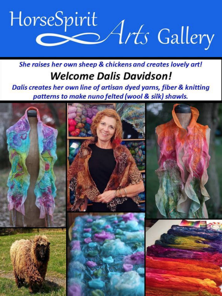Welcome Fiber Artist Dalis Davidson to HorseSpirit Arts Gallery