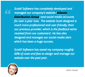 ADG LLC testimonial for ScottE Software