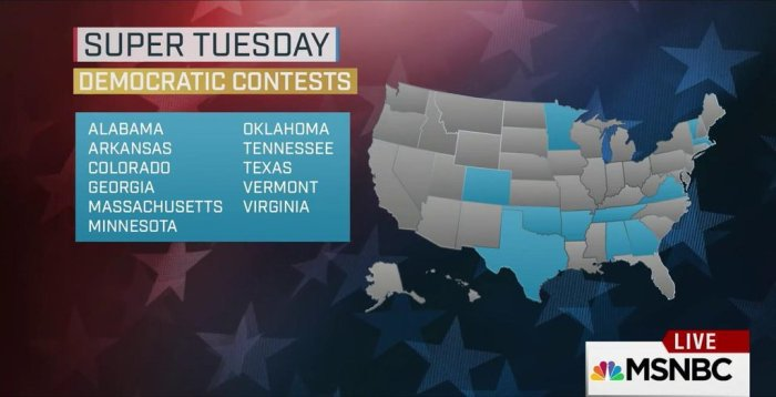 DEM Super Tuesday
